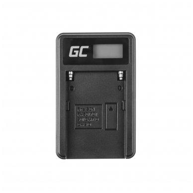 Maitinimo adapteris (kroviklis) GC BC-V615   AC-VL1 skirtas Sony A58, A57, A65, A77, A99, A900, A700, A580, A56, A55,0 A850, SLT A99 II 0.6A 8.4V 5W 3