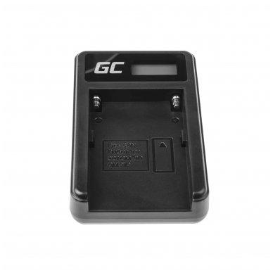 Maitinimo adapteris (kroviklis) GC BC-V615   AC-VL1 skirtas Sony A58, A57, A65, A77, A99, A900, A700, A580, A56, A55,0 A850, SLT A99 II 0.6A 8.4V 5W 4