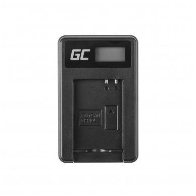 Maitinimo adapteris (kroviklis) GC CB-2LCE skirtas Canon NB-10L PowerShot G15, G16, G1X, G3X, SX40 HS, SX40HS, SX50 HS, SX60 HS 0.6A 8.4V 5W 3