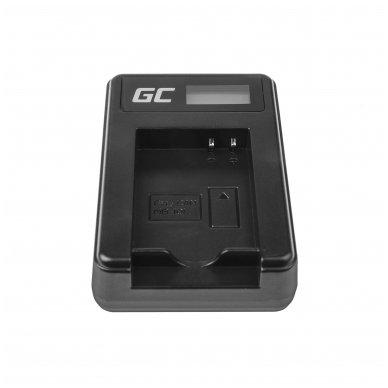 Maitinimo adapteris (kroviklis) GC CB-2LCE skirtas Canon NB-10L PowerShot G15, G16, G1X, G3X, SX40 HS, SX40HS, SX50 HS, SX60 HS 0.6A 8.4V 5W 4
