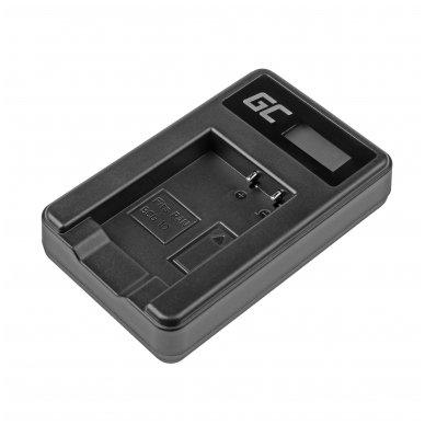 Maitinimo adapteris (kroviklis) GC DE-A65BB skirtas Panasonic DMW-BCG10 Lumix DMC-TZ10 DMC-TZ20 DMC-TZ30 DMC-ZS5 DMC-ZS10 DMC-ZX1 0.6A 8.4V 5W