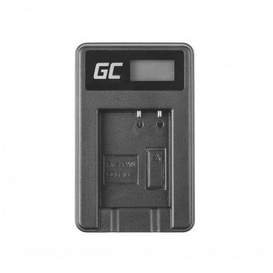 Maitinimo adapteris (kroviklis) GC DE-A65BB skirtas Panasonic DMW-BCG10 Lumix DMC-TZ10 DMC-TZ20 DMC-TZ30 DMC-ZS5 DMC-ZS10 DMC-ZX1 0.6A 8.4V 5W 3