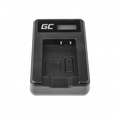 Maitinimo adapteris (kroviklis) GC DE-A65BB skirtas Panasonic DMW-BCG10 Lumix DMC-TZ10 DMC-TZ20 DMC-TZ30 DMC-ZS5 DMC-ZS10 DMC-ZX1 0.6A 8.4V 5W 4