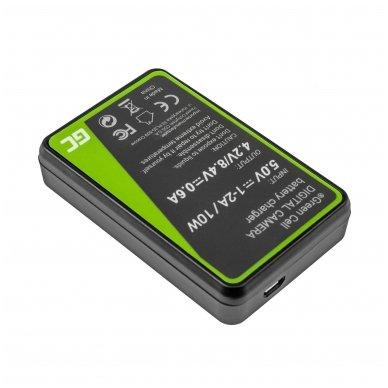 Maitinimo adapteris (kroviklis) GC DE-A79B skirtas Panasonic FZ2000, G81, FZ1000, FZ300, G6M, GX8M, G70M, G70KA, GX8EG-K, GX8, G70 0.6A 8.4V 5W 2