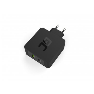 Maitinimo adapteris (kroviklis) USB-C 45W PD su kabeliu USB-C ir papildomu USB lizdu skirtu Asus ZenBook, HP Spectre, HP Envy x2 ir kitiems 3