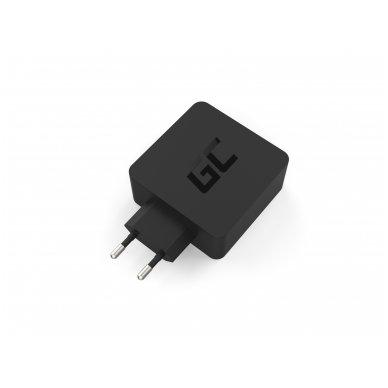 Maitinimo adapteris (kroviklis) USB-C 45W PD su kabeliu USB-C ir papildomu USB lizdu skirtu Asus ZenBook, HP Spectre, HP Envy x2 ir kitiems 4