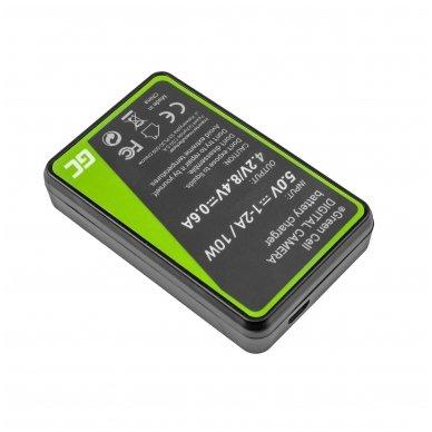Maitinimo adapteris (kroviklis) GC LC-E8 skirtas Canon LP-E8 EOS Rebel T2i, T3i, T4i, T5i, EOS 600D, 550D, 650D, 700D, Kiss X5, X4, X6 0.6A 4.8V 2.5W 2