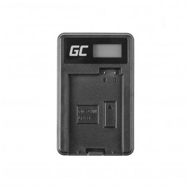 Maitinimo adapteris (kroviklis) GC LC-E8 skirtas Canon LP-E8 EOS Rebel T2i, T3i, T4i, T5i, EOS 600D, 550D, 650D, 700D, Kiss X5, X4, X6 0.6A 4.8V 2.5W 3