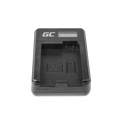 Maitinimo adapteris (kroviklis) GC LC-E8 skirtas Canon LP-E8 EOS Rebel T2i, T3i, T4i, T5i, EOS 600D, 550D, 650D, 700D, Kiss X5, X4, X6 0.6A 4.8V 2.5W 4