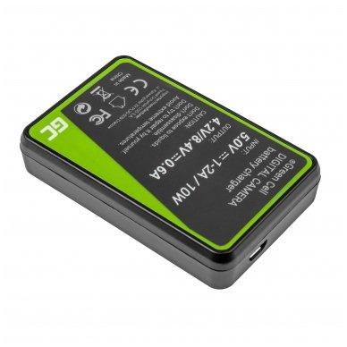 Maitinimo adapteris (kroviklis) GC MH-25 skirtas Nikon EN-EL15 D850 D810 D800 D750 D7500 D7200 D7100 D610 D600 0.6A 8.4V 5W 2