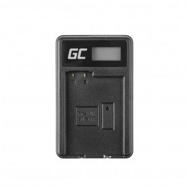 Maitinimo adapteris (kroviklis) GC MH-25 skirtas Nikon EN-EL15 D850 D810 D800 D750 D7500 D7200 D7100 D610 D600 0.6A 8.4V 5W 3