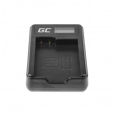 Maitinimo adapteris (kroviklis) GC MH-25 skirtas Nikon EN-EL15 D850 D810 D800 D750 D7500 D7200 D7100 D610 D600 0.6A 8.4V 5W 4