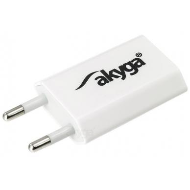 Maitinimo adapteris (kroviklis) USB 5W (Baltas)
