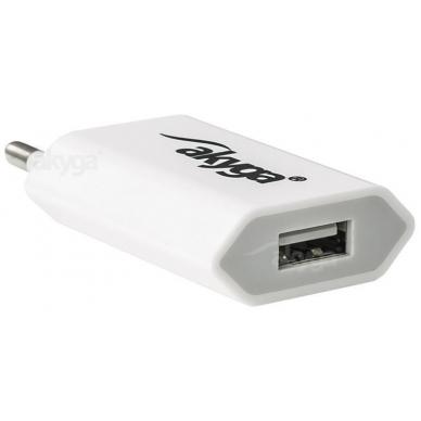Maitinimo adapteris (kroviklis) USB 5W (Baltas) 2