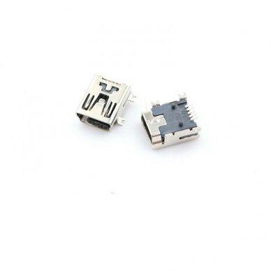 Lizdas Mini USB Type B 5-kontaktai 180° SMD SMT PCB 2