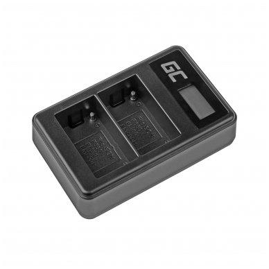 Dvigubas maitinimo adapteris (kroviklis) GC BC-V615 | AC-VL1 skirtas Sony A58, A57, A65, A77, A99, A900, A700, A580, A56,0 A55,0 A850, SLT A99 II 0.6A 8.4V 5W