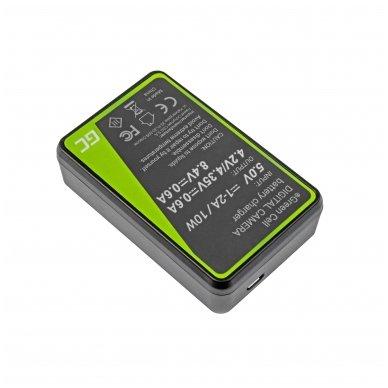 Dvigubas maitinimo adapteris (kroviklis) GC BC-V615 | AC-VL1 skirtas Sony A58, A57, A65, A77, A99, A900, A700, A580, A56,0 A55,0 A850, SLT A99 II 0.6A 8.4V 5W 2