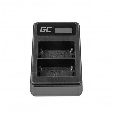 Dvigubas maitinimo adapteris (kroviklis) GC BC-V615 | AC-VL1 skirtas Sony A58, A57, A65, A77, A99, A900, A700, A580, A56,0 A55,0 A850, SLT A99 II 0.6A 8.4V 5W 4
