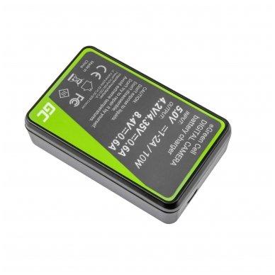 Dvigubas maitinimo adapteris (kroviklis) GC DE-A83, DE-A84 skirtas Panasonic DMW-MBM9, Lumix DMC-FZ70, DMC-FZ60, DMC-FZ100, DMC-FZ40, DMC-FZ47 0.6A 8.4V 5W 2