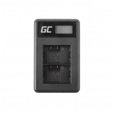 Dvigubas maitinimo adapteris (kroviklis) GC DE-A83, DE-A84 skirtas Panasonic DMW-MBM9, Lumix DMC-FZ70, DMC-FZ60, DMC-FZ100, DMC-FZ40, DMC-FZ47 0.6A 8.4V 5W 3