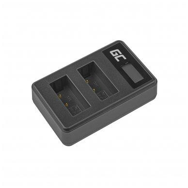 Dvigubas maitinimo adapteris (kroviklis) GC LC-E17 skirtas Canon LP-E17, EOS 77D, 750D, 760D, 8000D, M3, M5, M6, Rebel T6i, Rebel T6s 0.6A 8.4V 5W