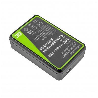 Dvigubas maitinimo adapteris (kroviklis) GC LC-E17 skirtas Canon LP-E17, EOS 77D, 750D, 760D, 8000D, M3, M5, M6, Rebel T6i, Rebel T6s 0.6A 8.4V 5W 2