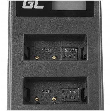 Dvigubas maitinimo adapteris (kroviklis) GC LC-E17 skirtas Canon LP-E17, EOS 77D, 750D, 760D, 8000D, M3, M5, M6, Rebel T6i, Rebel T6s 0.6A 8.4V 5W 4