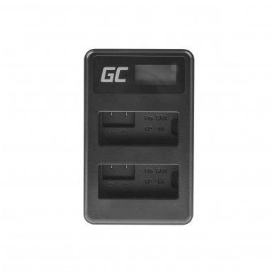 Dvigubas maitinimo adapteris (kroviklis) GC LC-E8 skirtas Canon LP-E8 EOS Rebel T2i, T3i, T4i, T5i, EOS 600D, 550D, 650D, 700D, Kiss X5, X4, X6 0.6A 8.4V 5W 3