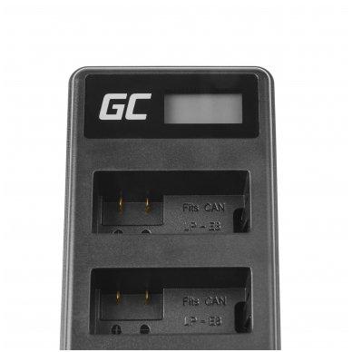Dvigubas maitinimo adapteris (kroviklis) GC LC-E8 skirtas Canon LP-E8 EOS Rebel T2i, T3i, T4i, T5i, EOS 600D, 550D, 650D, 700D, Kiss X5, X4, X6 0.6A 8.4V 5W 4