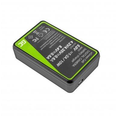 Dvigubas maitinimo adapteris (kroviklis) GC MH-24 skirtas Nikon EN-EL14, D3200, D3300, D5100, D5200, D5300, D5500, Coolpix P7000, P7700, P7800 0.6A 8.4V 5W 2