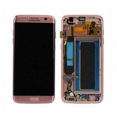 Samsung Galaxy S7 Edge ekrano modulio (rausvai auksinis) keitimas
