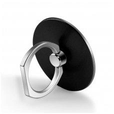 Telefono laikiklis-žiedas-stovas apvalus juodas