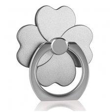 Telefono laikiklis-žiedas-stovas pilka gėlė