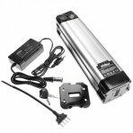 Baterija (akumuliatorius) elektriniam dviračiui, Li-Ion, 48V, 8.8Ah, (tvirtinama prie sėdynės vamzdžio, + kroviklis)